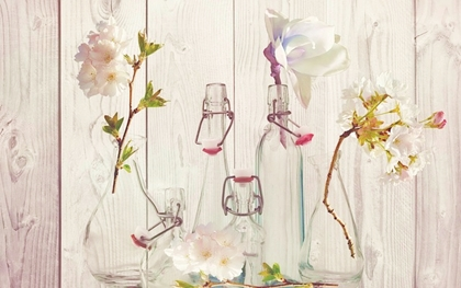 花瓶に入った草花